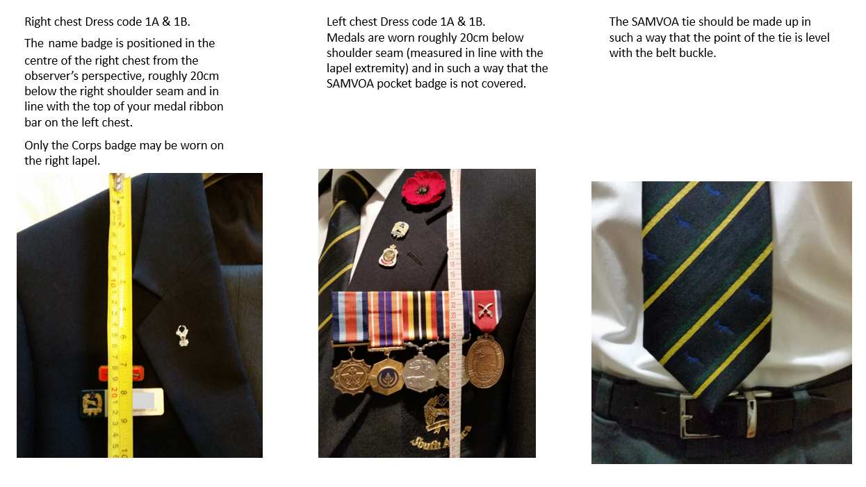 Dress Regulations - South African Military Veterans Organisation USA