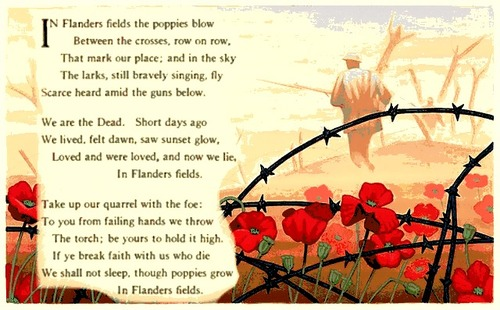 In Flanders Field the Poppies Blow...